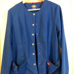 Royal blue Dickies scrub jacket
